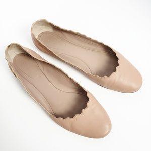 Chloe Lauren Leather Ballet Flats Size 39.5